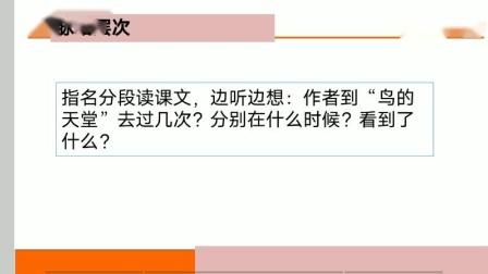 西安市临潼区华清小学五年级语文 《鸟的天堂》王言言