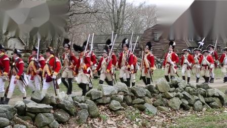 历史重演之英国红衣枪手列队进入苏格兰高地收税