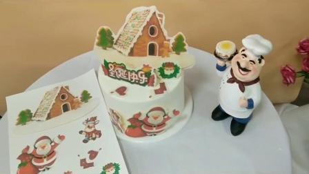 圣诞节烘焙巧克力转印纸蛋糕插片