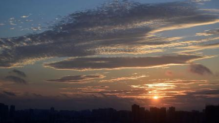 海口的天空 太阳月亮 云雾蓝天 自然风景图片专辑4K视频