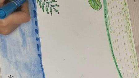橘宝艺术培训中心-综合创意绘画《顽皮的小猴子》3