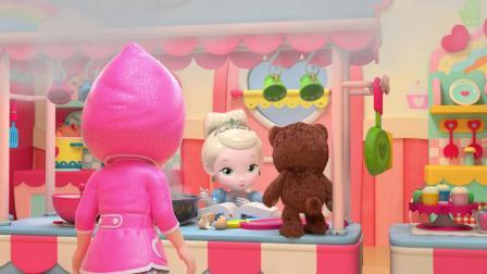 彩虹宝宝想帮冰灵公主做蛋糕,但是原材料好像不够了!