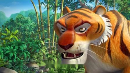 丛林之书:凶猛的闻到人类的气味,想要吃掉丛林中人类的小孩