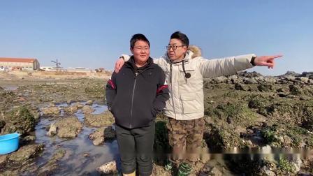 渔村小马:退朝赶海搜集海鲜做大餐,配加拿大北极虾做年味披萨!