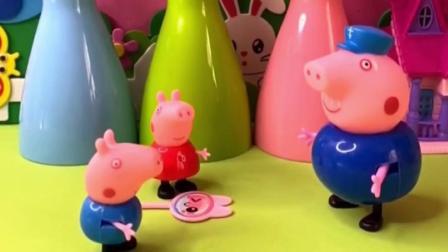 佩奇乔治帮猪爷爷干了活,猪爷爷就奖励了奶酪棒,结果都被乔治吃了