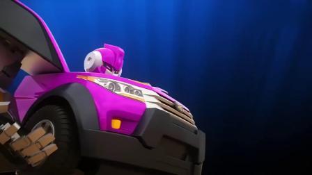 迷你特工队X:露西结合了所有人的力量击败了机器装甲