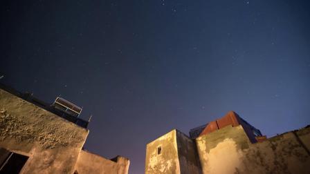 摩洛哥马拉喀什的夜空 延时摄影