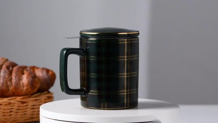 COSTA马克杯带盖勺陶瓷杯子ins咖啡杯欧式小奢华茶杯水杯茶水分离