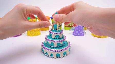 给艾莎和安娜公主制作漂亮的蛋糕裙子 第1集