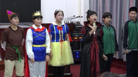 库伦旗第二中学贯通班《白雪公主与七个小矮人》英语话剧展演及小演员们谈表演感悟
