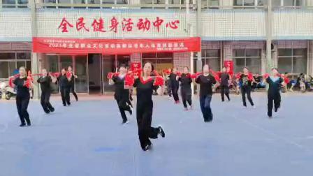 尧都区老体协培训中医健身棒操舞《中国范》(視频)