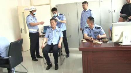大箐山县局禁毒大队对全局进行毛发检测筛选工作