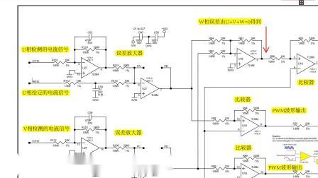 电路板维修视频教程:伺服驱动器SPWM控制信号发生电路