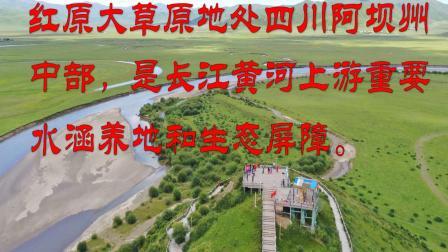 航拍红原月亮湾---甘南川西行(三)