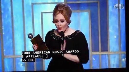 【Adele中文网】Adele-Skyfall赢得金球奖最佳原创歌曲