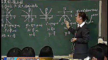 《抛物线及其标准方程》赵鸿伟--2012年河北省高中青年数学教师优质课观摩与评选