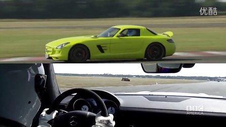 Stig 油动电动 奔驰SLS跑圈车载镜头 Top Gear20季04集幕后片段