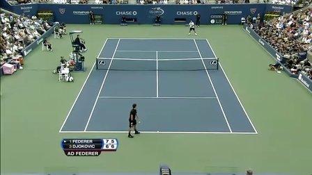 2007 美网决赛 费德勒vs小德