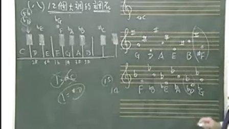 一单元:看谱学歌与基础乐理8 12个大调的调名[音阶]与复拍子的正规节奏