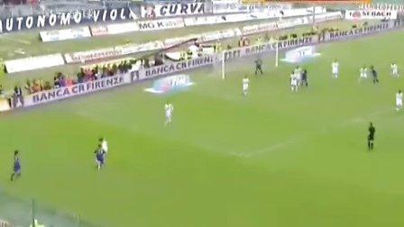 08-09赛季5月31日 意甲第38轮 佛罗伦萨VSAC米兰 风云足球国语黄子忠 上半场