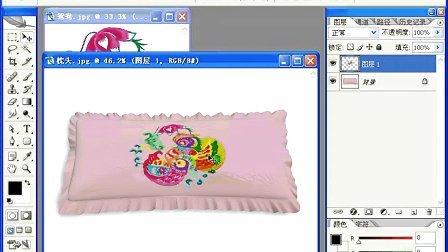 实例30 结婚枕头的图案设计