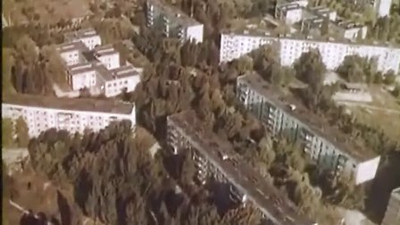 苏联航拍切尔诺贝利核灾难后并废弃的普里皮亚季市(1987年)