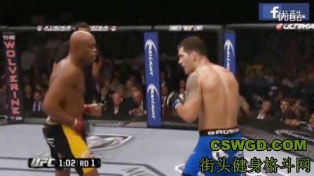 UFC蜘蛛人安德森、席尔瓦惨被暴力KO——UFC超级经典赛事