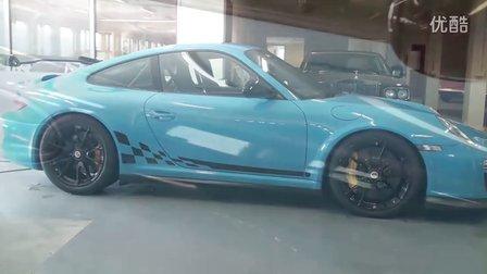 颜色绝对稀有 保时捷GT3RS 997汽车美容