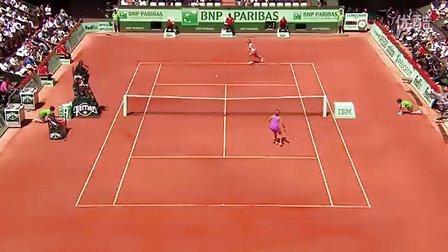 2011法国网球公开赛女单QF 李娜VS阿扎伦卡 官方HL