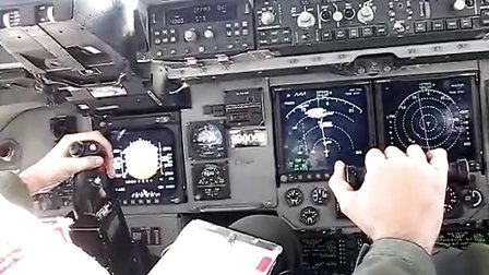 C-17 Refueling Watching the pilot fly