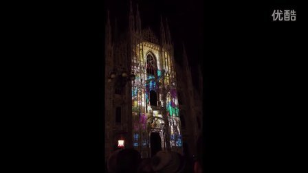 米兰 Duomo大教堂3D灯光秀 2012228
