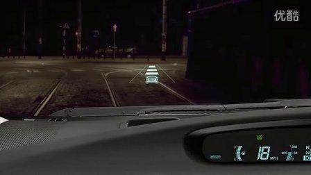 可以投射导航信息 丰田普锐斯抬头投影演示