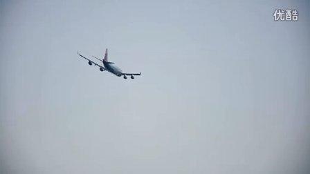 华信航空AE990 747-400 宁波栎社国际机场起飞 至台北桃园