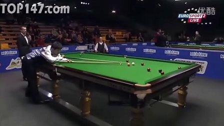 第二轮 丁俊晖(129) vs 彼得-艾伯顿 第3局