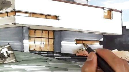 陈马带总导师-建筑手绘8-广州疯狂手绘培训视频教程