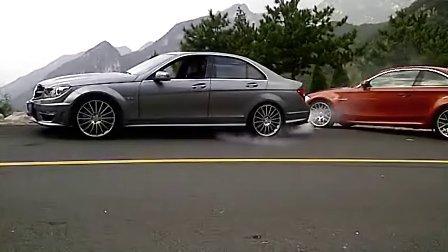奔驰C63 AMG烧胎
