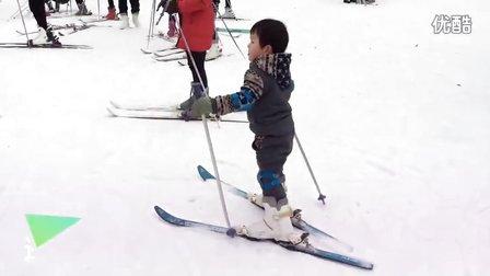 爸爸去哪儿-老界岭滑雪-叮当