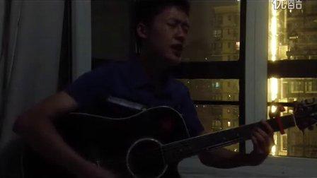 深夜吉他弹唱曲婉婷的<我的歌声里>