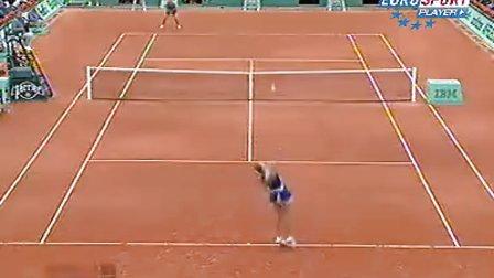2009法国网球公开赛女单R2 莎拉波娃VS佩特洛娃
