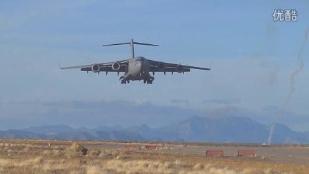 美军联合强行进入演习JFE14B_A-10,C-130,C-17,第82空降师,内华达Keno机场