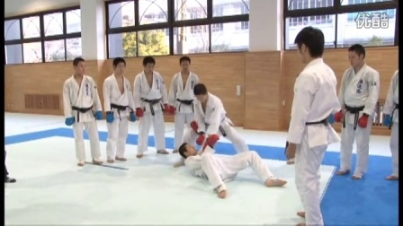 Naniwa Highschool Karate training5