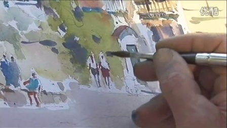 水彩畫教程風景寫生技法教學-03澳洲水彩畫家大衛泰勒