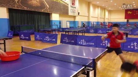 《乒乓球技术训练》正手攻球+反手台内挑球+正手拉球