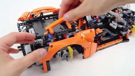 [速拼编]乐高Lego Technic 42056 Porsche 911 GT3 RS - Lego Speed build