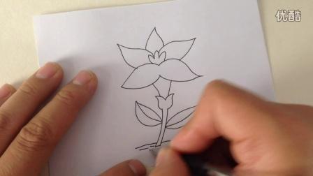 儿童简笔画.创意花朵的画法8