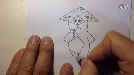 手绘京剧猫-系列卡通形象7