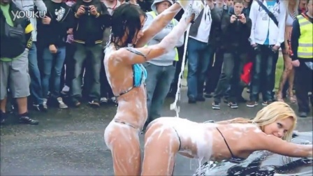 Car wash with two hot babes HD