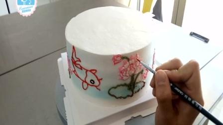 中国风祝寿蛋糕(豆沙裱花教程)