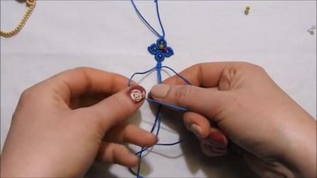 macrame四叶草手链编绳教程-一栈手工坊