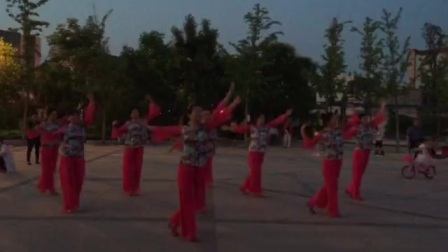 金裕广场舞幸福飞翔比赛节目9人变队形